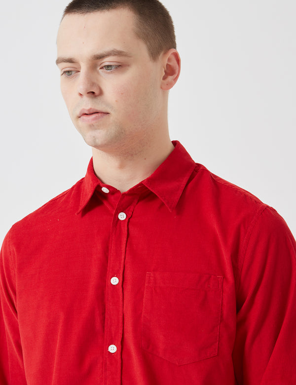 Norse Projects Osvald Corduroy Shirt - Askja Red