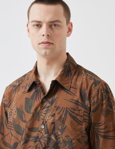 Norse Projects Carsten Print Shirt - Russet Red