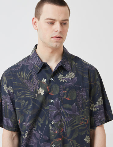 Norse Projects Carsten Print Shirt - Dark Navy Blue