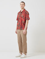 Norse Projects Carsten Print Shirt - Askja Red