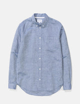 Norse Projects Osvald Button Down Shirt - True Blue