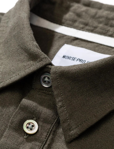 Norse Projects Oscar Half Placket Shirt - Ivy Green