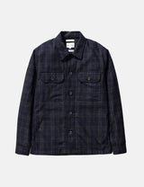 Norse Projects Kyle Check Jacket (Wool) - Dark Navy Blue
