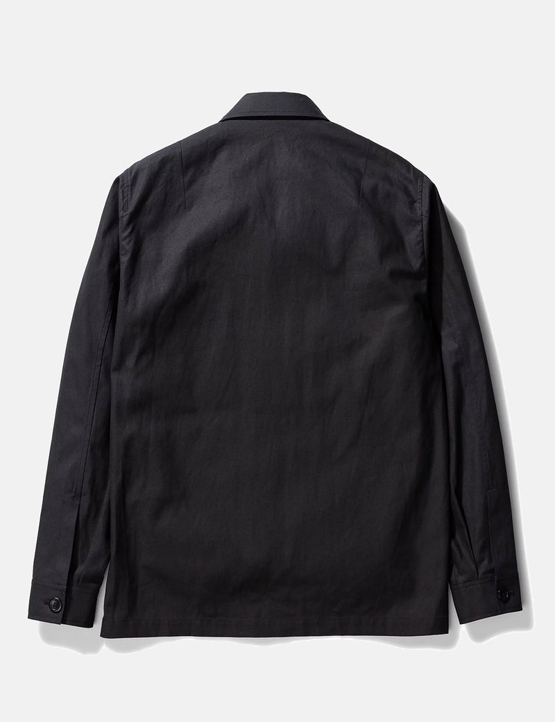 Norse Projects Kyle Cotton Linen Jacket - Black