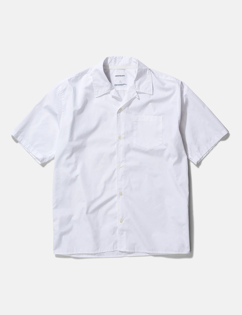 Norse Projects Carsten Poplin Shirt - White