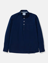 Norse Projects Oscar Indigo Half Placket Shirt - Indigo Blue
