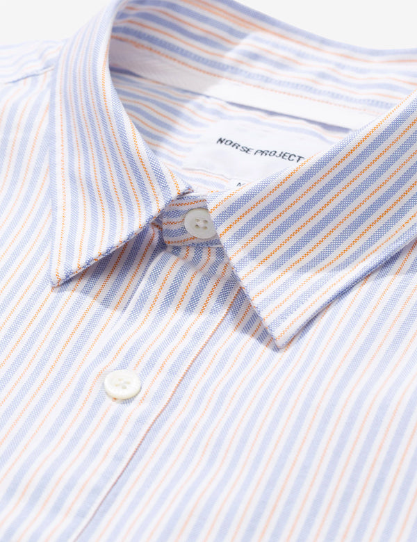 Norse Projects Oscar Oxford SS Shirt - Clouded Blue