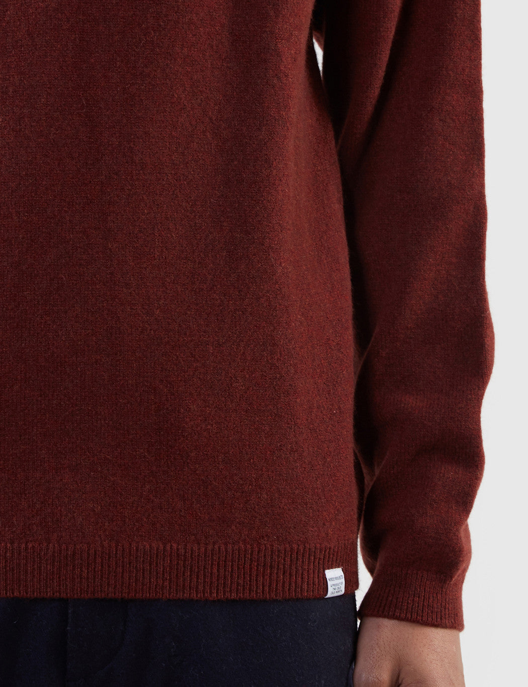 Norse Projects Sigfred Lambswool Jumper - Red Clay