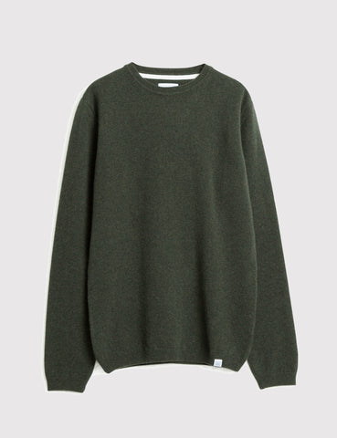 Norse Projects Sigfred Lambswool Jumper - Rosin Green