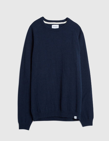 Norse Projects Birnir Texture Knit - Navy Blue