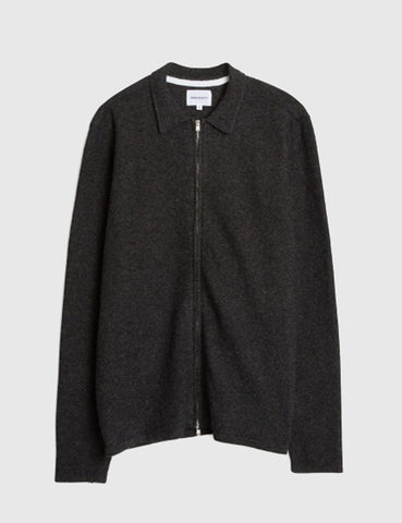 Norse Projects Magne Zip Shirt - Charcoal