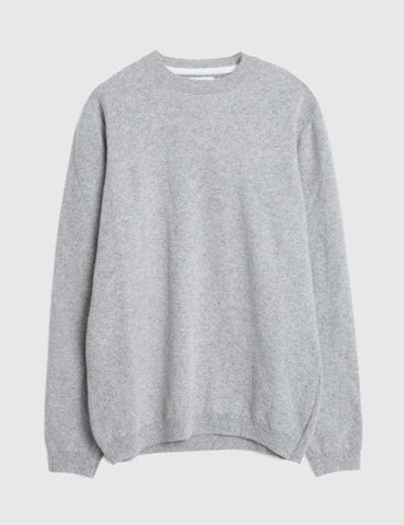Norse Projects Arild Alpaca Wool Jumper - Light Grey