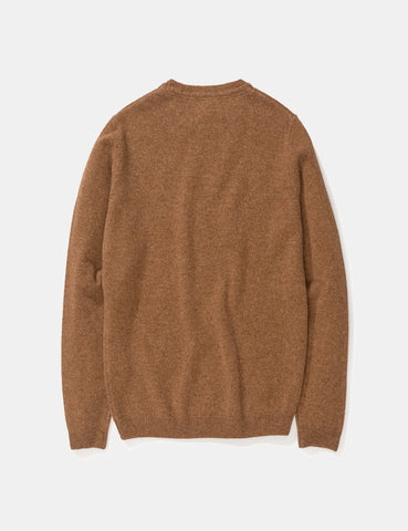 Norse Projects Sigfred Sweatshirt (Lambswool) - Zircon Brown