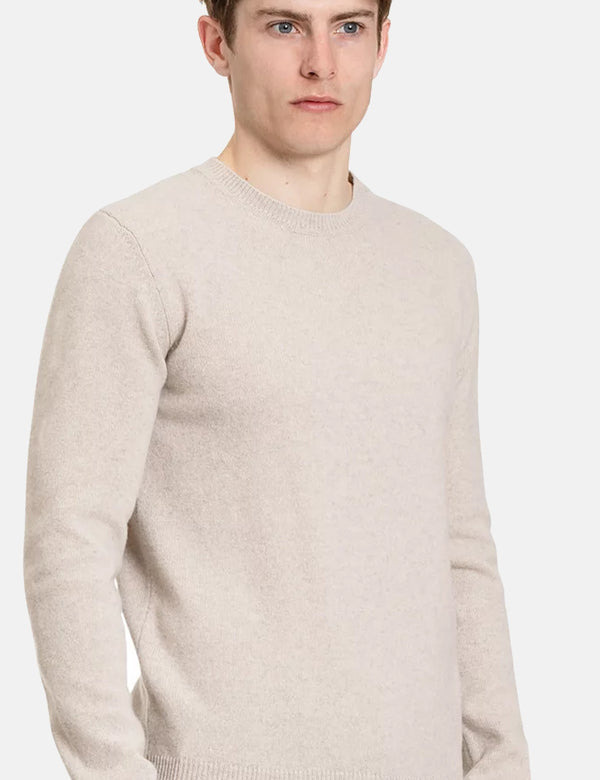 Norse Projects Sigfred Knit Sweatshirt (Wool) - Oatmeal Melange