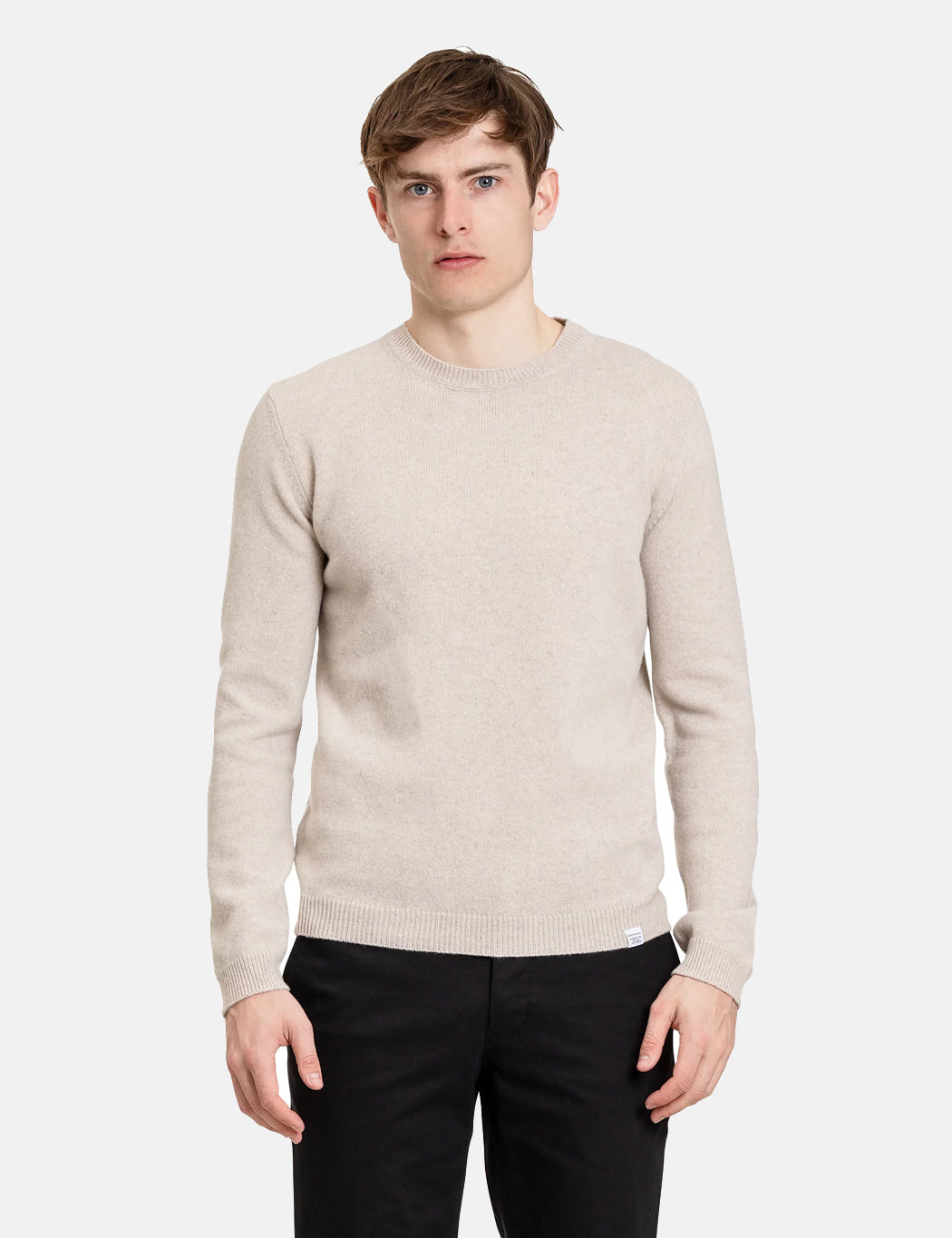 Norse Projects Sigfred Sweatshirt - Oatmeal Melange   URBAN EXCESS.