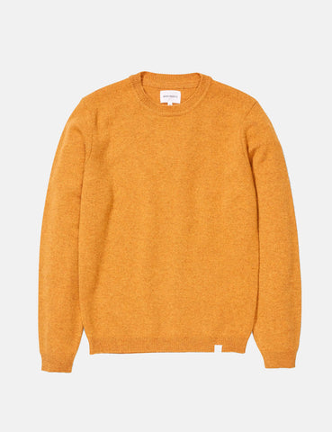 Norse Projects Sigfred Knit Sweatshirt (Lambswool) - Montpellier Yellow