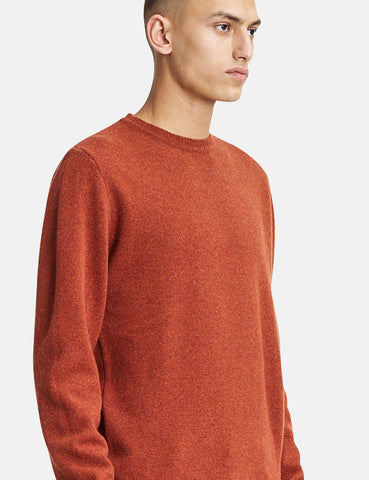 Norse Projects Sigfred Knit Sweatshirt (Lambswool) - Signal Orange