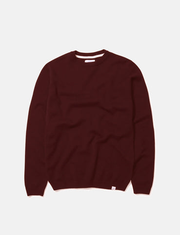 Norse Projects Sigfred Sweatshirt (Lambswool) - Hermatite Red