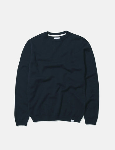 Norse Projects Sigfred Sweatshirt (Lambswool) - Petrol Blue