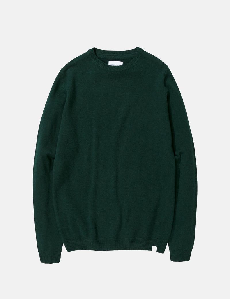 Norse Projects Sigfred Knit Sweatshirt (Wool) - Quartz Green