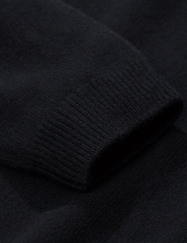 Norse Projects Sigfred Knit Sweatshirt (Lambswool) - Black