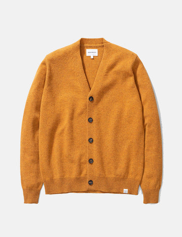 Norse Projects Adam Cardigan (Lambswool) - Montpellier Yellow