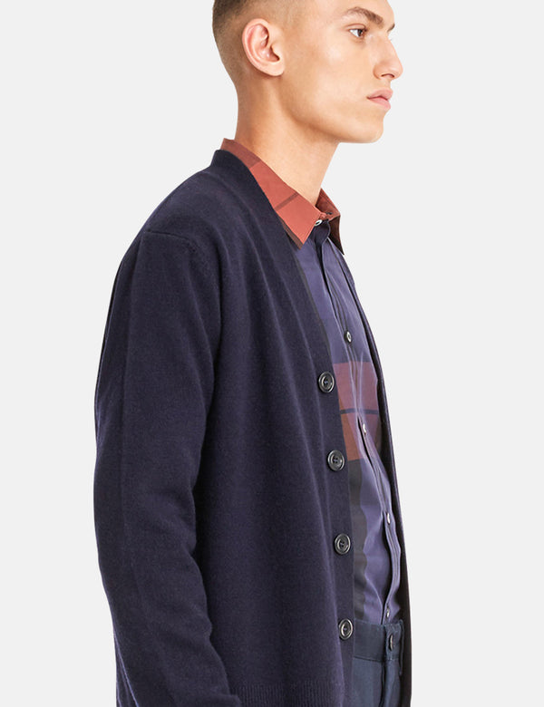 Norse Projects Adam Cardigan (Wolle) - Dark Navy Blau