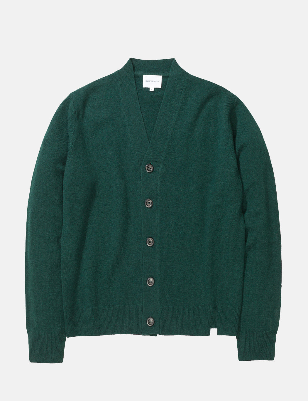 Norse Projects Adam Cardigan (Lambswool) - Green | URBAN EXCESS.