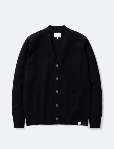 Norse Projects Adam Cardigan (Lambswool) - Black