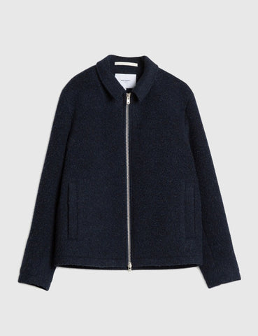 Norse Projects Elliot Wool Jacket - Navy