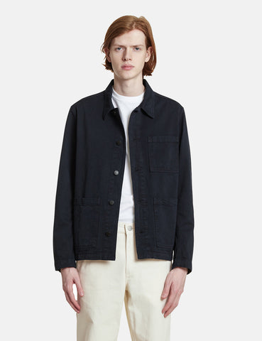 Norse Projects Tyge Organic Twill Jacket - Dark Navy