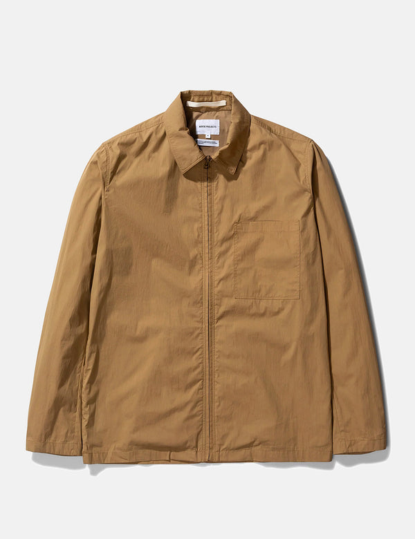 Norse Projects Jens Zip Packable Jacket - Utility Khaki
