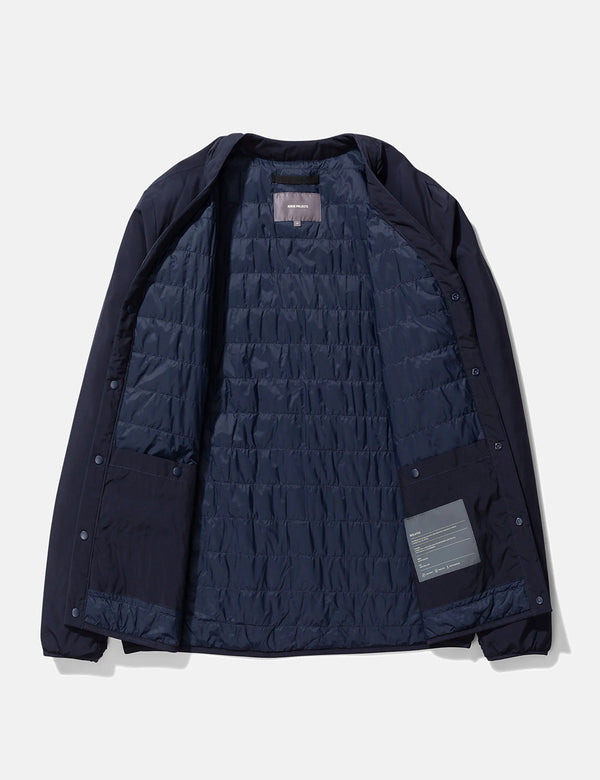 Veste Norse Projects Otto Light WR - Bleu Marine Foncé