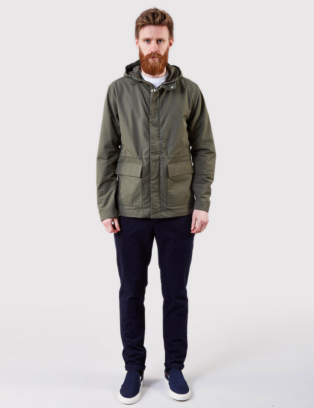 Norse Projects Nunk Summer Cotton Jacket - Dried Olive