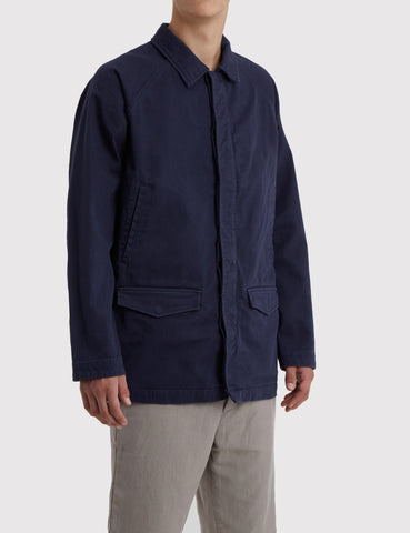 Norse Projects Bertram Twill Jacket (Cotton) - Navy Blue
