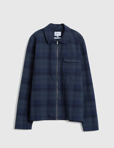 Norse Projects Elliot Jacket - Navy Check