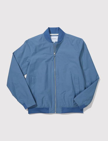 Norse Projects Ryan Bomber Jacket - Marginal Blue