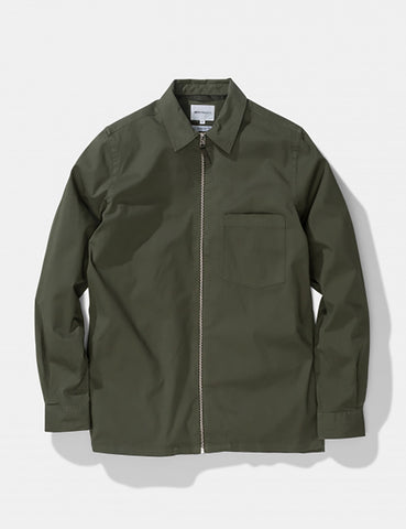 Norse Projects Jens Twill Jacket - Forest Green