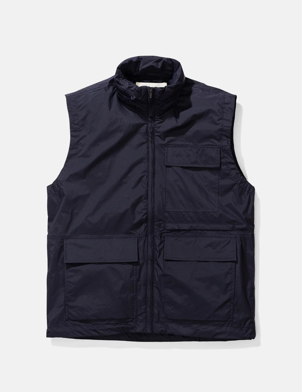 Norse Projects Birkholm Gilet (Shell) - Dark Navy Blue Note the gilet is a shell garment with no ins