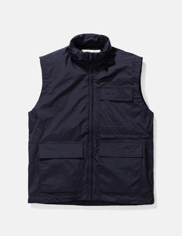 Norse Projects Birkholm Gilet (Shell) - Dark Navy Blue