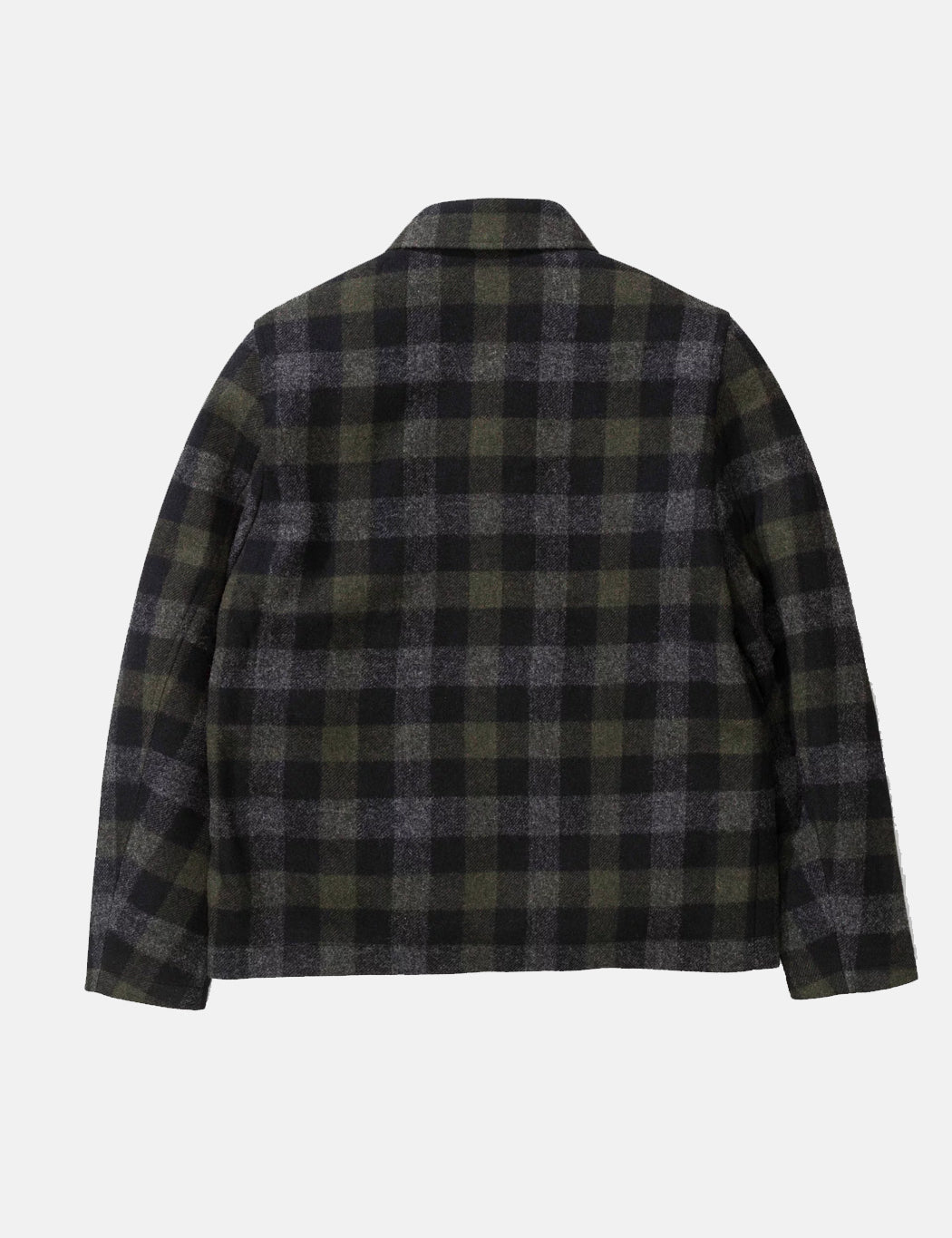 d8a369721d2 Norse Projects Elliot Wool Check Jacket - Magnet Grey