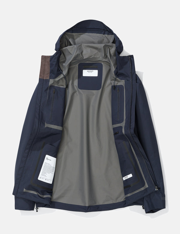 Norse Projects Fyn Shell Gore-Tex Jacket - Dark Navy Blue