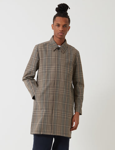 Norse Projects Thor Compact Twill Mac - Tan/Brown Check