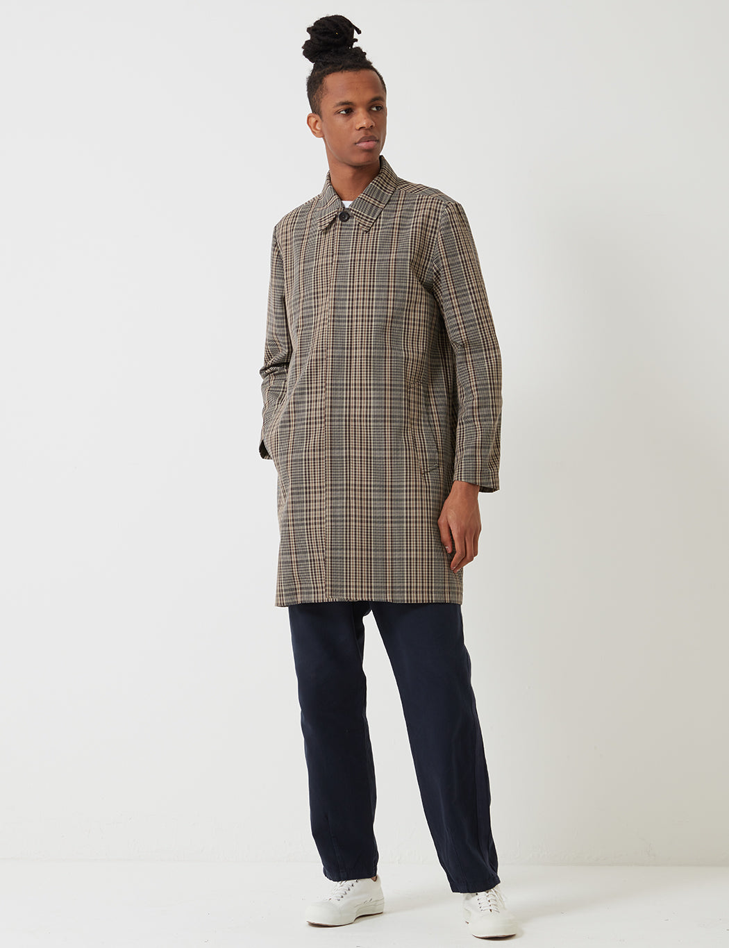 a544710a5 Norse Projects Thor Compact Twill Mac - Tan/Brown Check