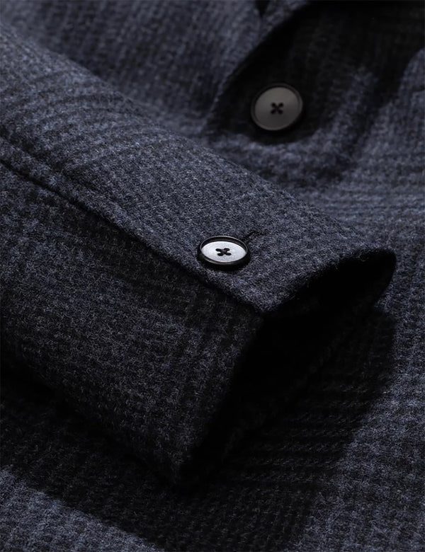 Norse Projects Arland Overdyed Wool Overcoat - Slate Grey