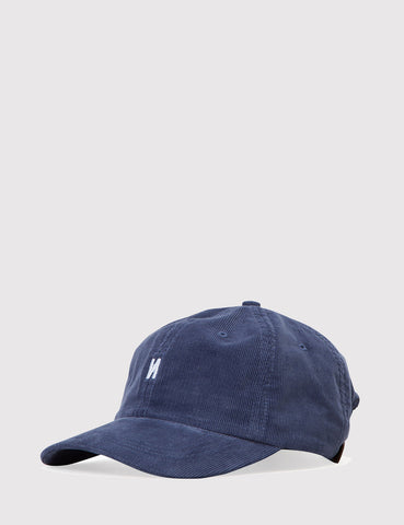Norse Projects Norse Corduroy Sports Cap - Dark Navy