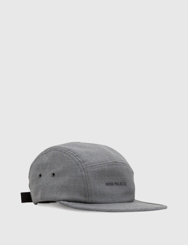 Norse Projects Foldable Wool 5 Panel Cap - Mouse Grey