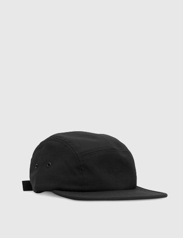 Norse Projects Foldable Wool 5 Panel Cap - Black