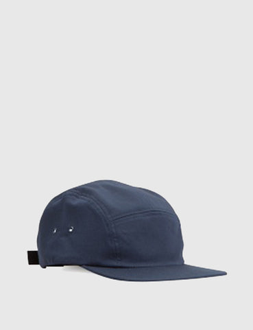 Norse Projects Cotton Gabardine 5-Panel Cap - Navy