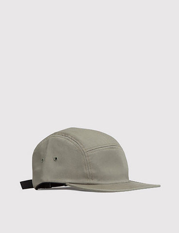 Norse Projects Cotton Gabardine 5 Panel Cap - Dried Olive
